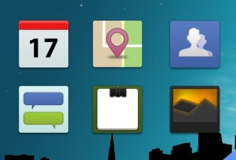Flat Mobile App Icons PSD