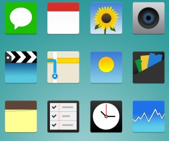 Flat iPhone App Icon Pack (PSD Included)