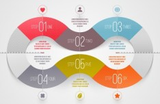 Vector Infographic Step Option Circle Elements 01