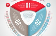Vector Infographic Step Option Circle Elements 02
