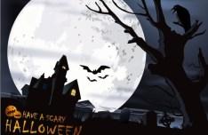 Cartoon Happy Halloween Scary Elements Vector 06