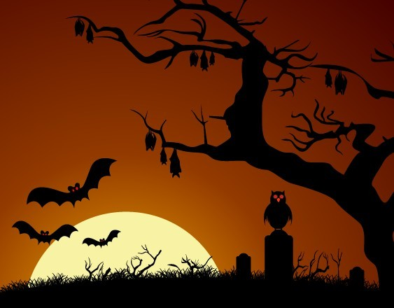 Cartoon Happy Halloween Scary Elements Vector 07