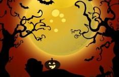 Cartoon Happy Halloween Scary Elements Vector 09