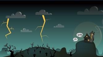Cartoon Happy Halloween Scary Elements Vector 10