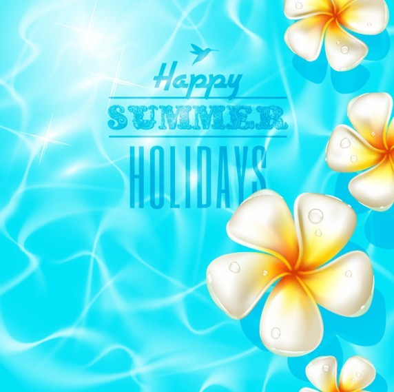 Colorful and Clean Vector Happy Summer Holiday Elements 05