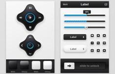 Elegant Blue and Black Mobile App UI Kit