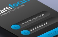Retina Ready iPhone Login Form UI PSD