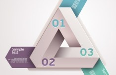 Vector Creative and Colored Origami Infographic Data Elements 04