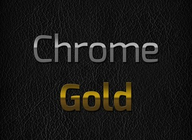 Chrome and Gold Text Effect PSD