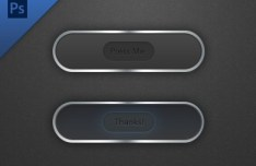 Dark Press Me Buttons with Metal Borders PSD