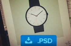 Elegant Wrist Watch PSD