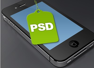 Old iPhone 4 PSD Template