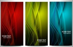 Set of Vector Elegant Vertical Banners with Colorful Backgrounds 03