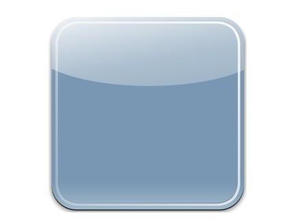 Sleek Blue Blank iOS App Icon PSD Template