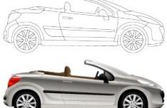 Vector Convertible Sports Car