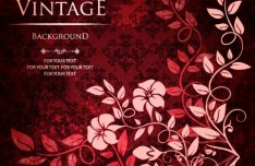 Gorgeous Vintage Flower Background Vector 01