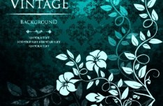 Gorgeous Vintage Flower Background Vector 04