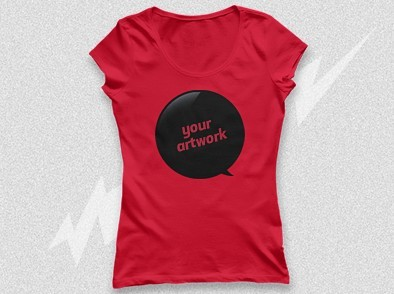 Ladies T-Shirt PSD Mockup