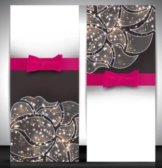 Vector Elegant Vertical Card Design Template 05