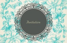 Vintage Floral Pattern Vector Background 01