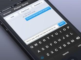 iOS 7 Message Interface PSD