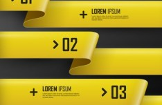 Colorful Vector Infographic Paper Number Labels 05