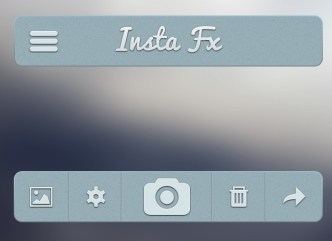 Gray-Blue App User Interface PSD