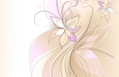 Vector Abstraction Flower Woman 01