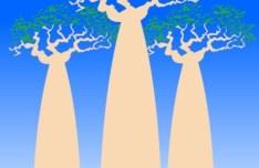 Vector Madagascar Bread Tree Illustration