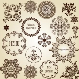 Vector Vintage Floral Border and Corner Design Elements 02