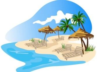 Vector Cartoon Happy Summer Day Design Elements 01