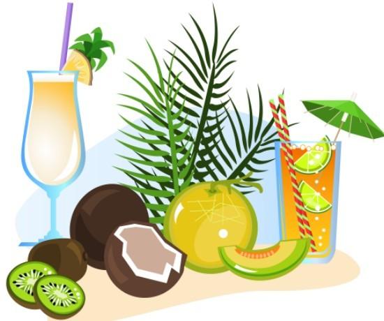 Vector Cartoon Happy Summer Day Design Elements 03