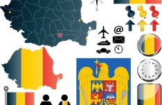 Vector Romania Information Graphic Elements