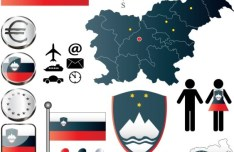 Vector Slovenia Information Graphic Elements