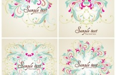 Elegant Colorful Floral Pattern Vector 01