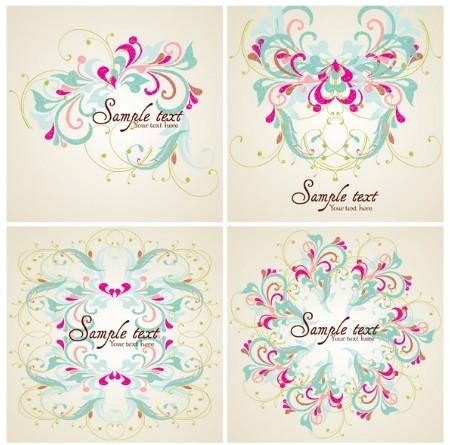 Elegant Colorful Floral Pattern Vector 01