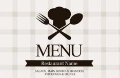 Vector Clean Restaurant Menu Design Template 02