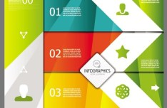 Vector Colorful Inforgraphic Step Circle Elements 02