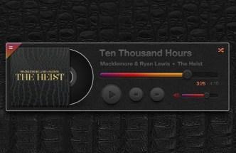 Dark Leather Music Player PSD