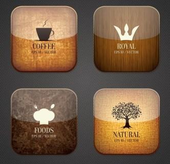 High Quality Glossy iOS App Icons Vector