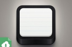 3D NoteBook App Icon PSD