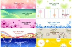 Fresh and Fashion Vector Banner Set