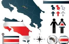 Vector Costa Rica Information Graphic Elements