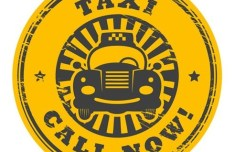Vector Yellow Cab Sticker Labels 05