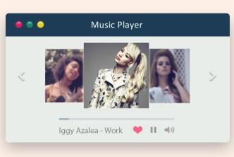 Apple Style Music Player Widget PSD