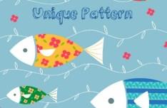 Hand Drawn Cartoon Fish Background Vector