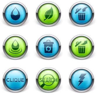 Set Of Vector 3D Glossy Icons 02