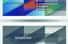 Set Of Vector Personalized Business Card Design Templates 03