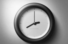 Dark Glossy Clock PSD