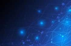 Blue HI-Tech Abstract Lines Background Vector.zip